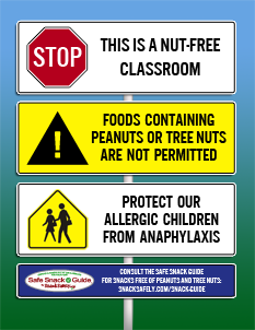 Nut-free Classroom Graphic