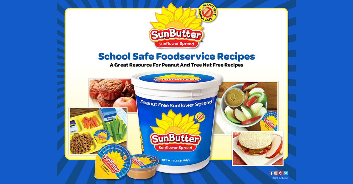 Sunbutter publishes nut free recipe book for school food services sunbutter forumfinder Gallery