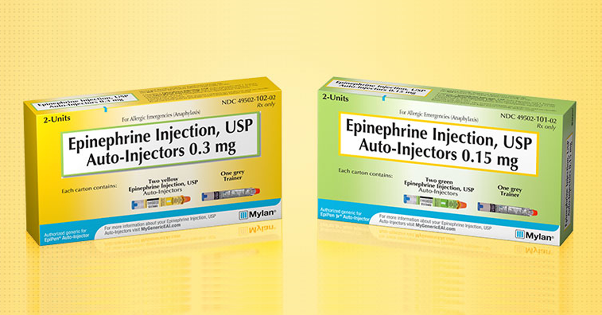 Mylan Launches Generic Version of EpiPen | SnackSafely.com