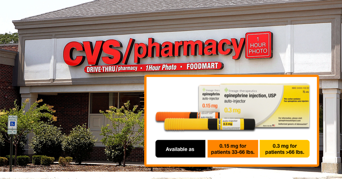 cvs now offering generic version of adrenaclick