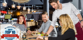 AllergyEats Top 10 Restaurant Chains
