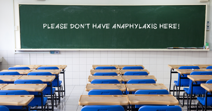 Don't have anaphylaxis here!