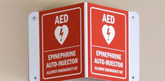 Emergency Epinephrine Sign