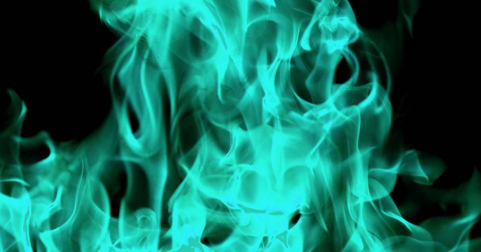 Teal Flames