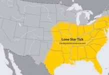 CDC Lone Star Tick Map